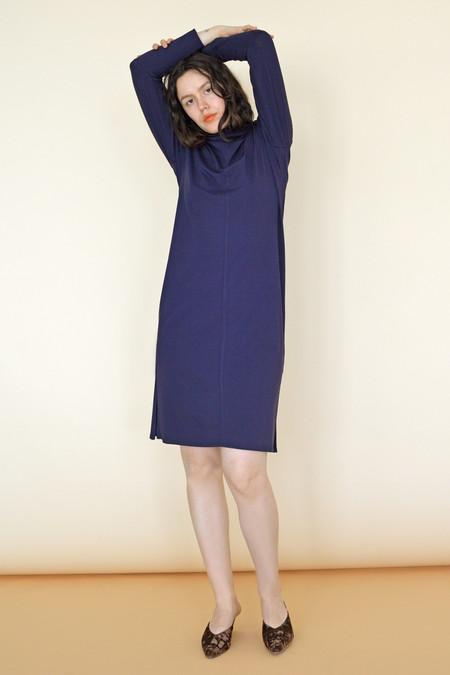 Wolcott : Takemoto Palmer Turtleneck Dress in Navy