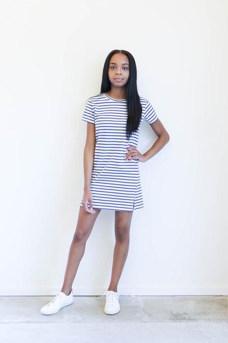 Amo Denim Twist Dress in Blue Sailor Stripe