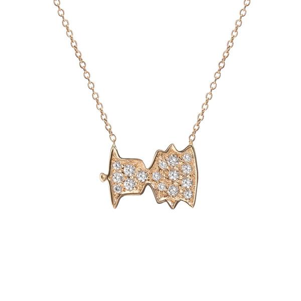 """Shahla Karimi 14K Gold Sounds Necklace No. 4 - """"Bonjour, Paris!"""" - Audrey Hepburn"""
