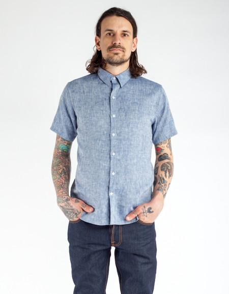 18 Waits Dylan Short Sleeve Shirt Extra Neppy Indigo Chambray
