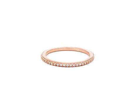 Leah Alexandra   Glint Ring in Rose Gold + CZ