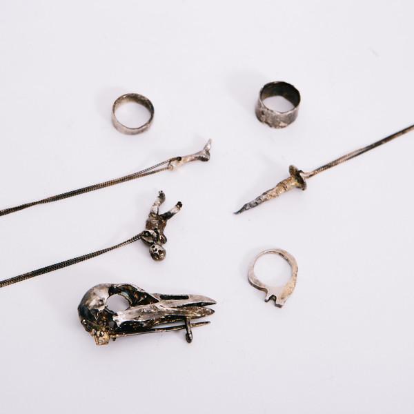 Alice Waese Silver Cut Bark Ring