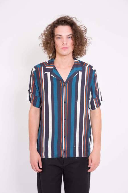Chapter Abra Short Sleeve Multi Stripe Woven