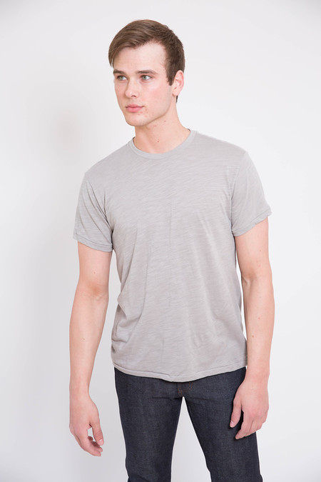 18 Waits Grey Slub Jersey Signature T-Shirt