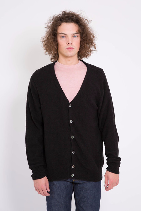 Maiden Noir Piled Cardigan Black