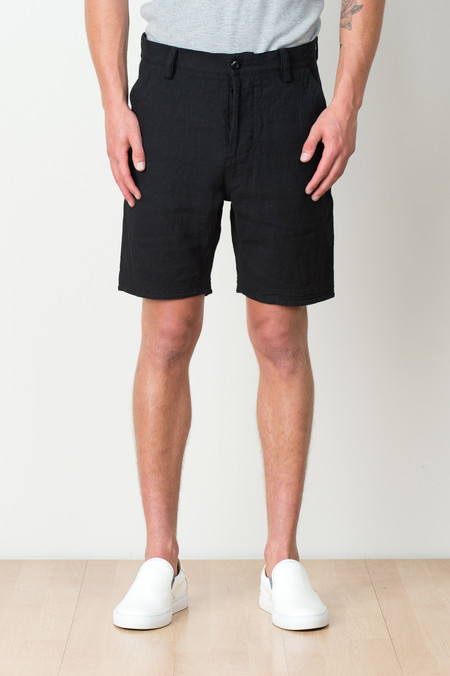 Wings + Horns Linen Utility Short In Black