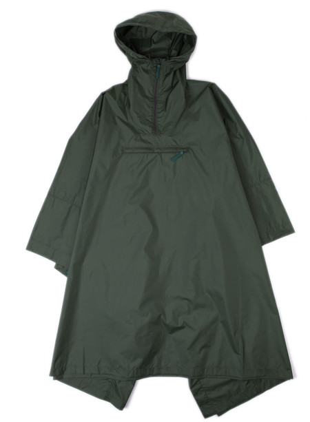 Norse Projects Packable Poncho Forest Green