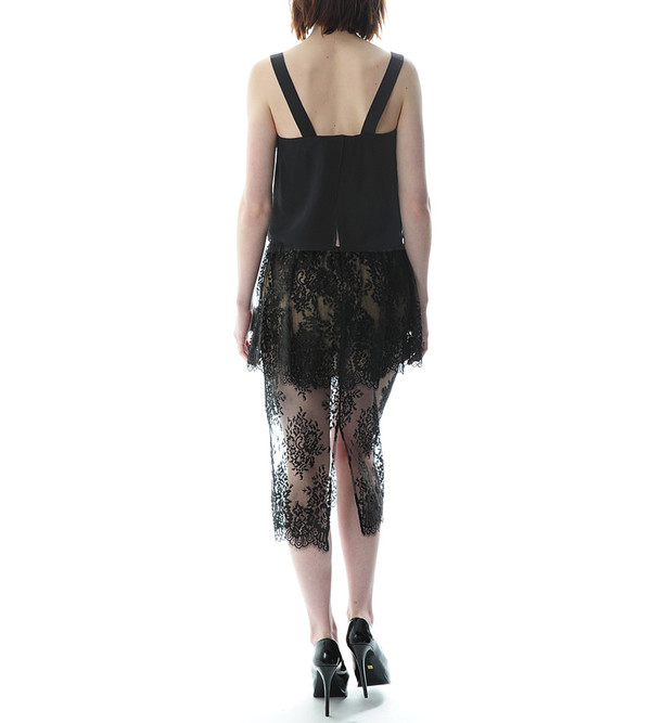 Peplum Lace Skirt
