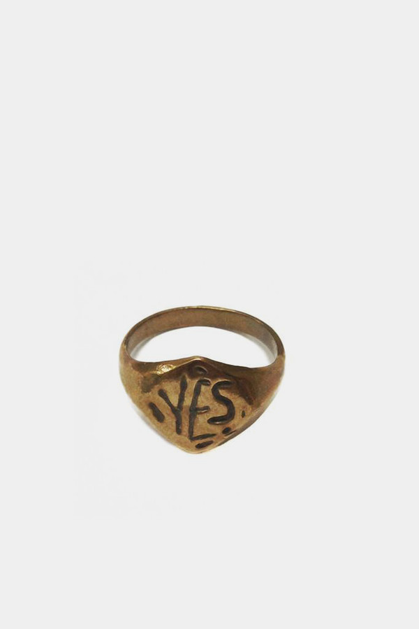 Open House Bronze 'YES' Ring