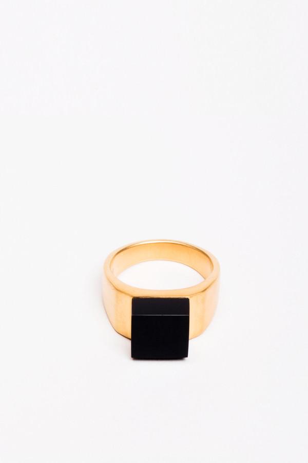 Ming Yu Wang Pixel Ring Onyx