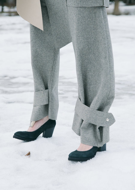 Urbanovitch Bonded Wool Cuff Trouser