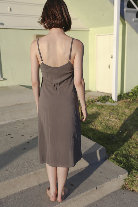 Botanica Workshop Vetiver Slip Dress in Smoke