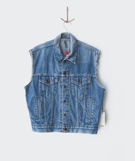 BILLY 1960's Levi's Denim Distressed Vest