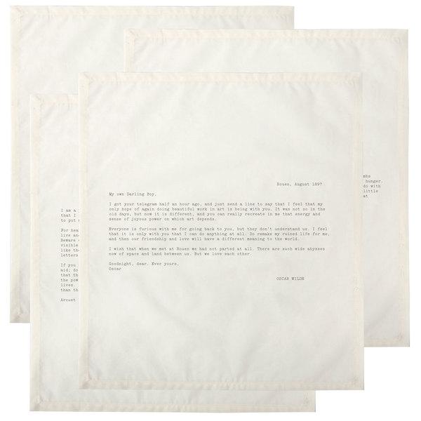 Lark & June Letter Napkin Set of 4