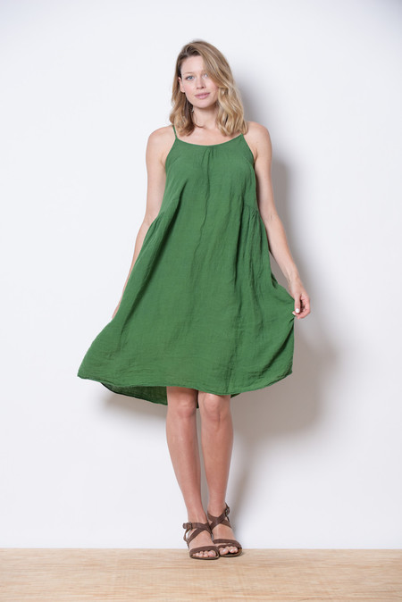 Manuelle Guibal Green Dress