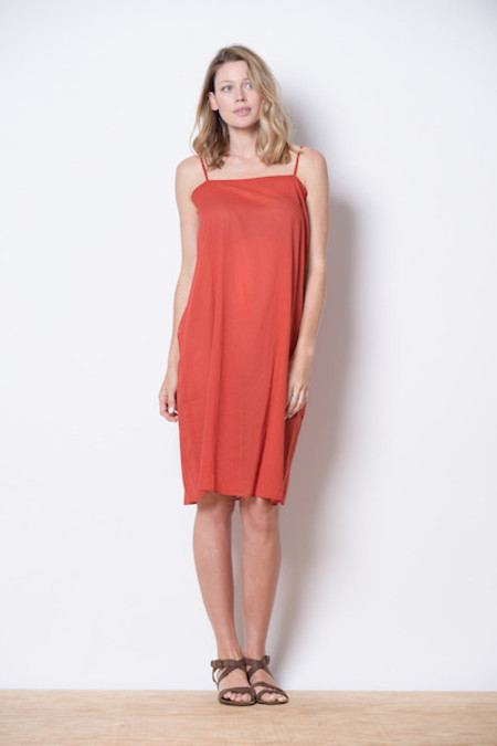 Manuelle Guibal Red slip dress