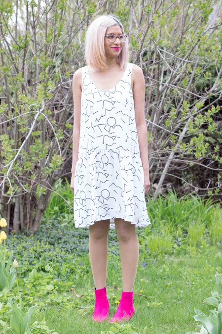 Eve Gravel Bauhaus Dress - Cream Pomo