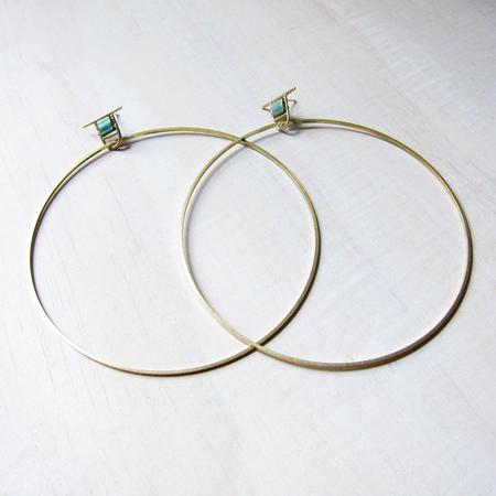 Alchemilla Hold large hoops - aqua