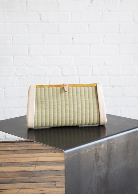 Eatable of Many Orders Tatami Clutch Bag Natural