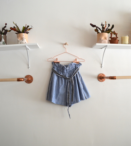 Woven Cotton Tie Shorts