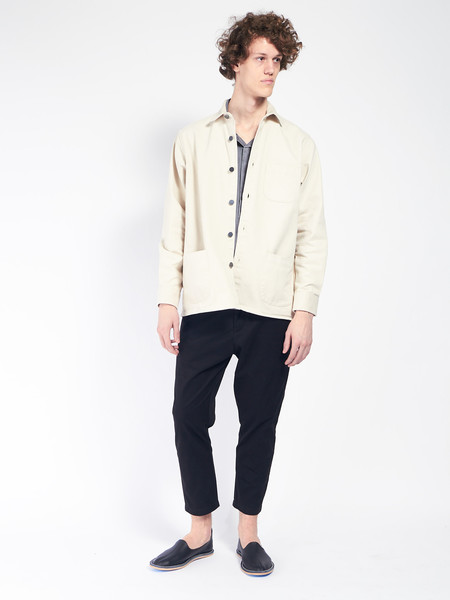 Schnayderman Overshirt Twill One Cream