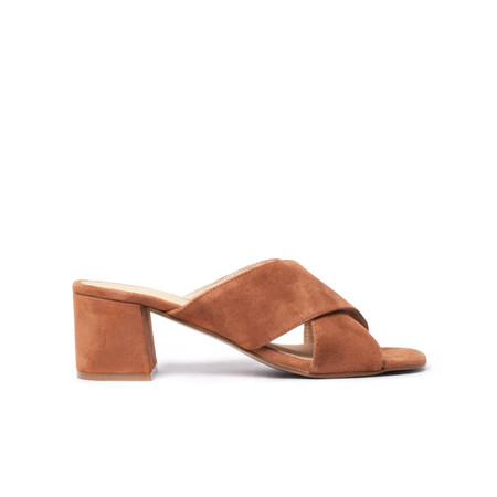 L'Intervalle Illy Tan Suede Slides