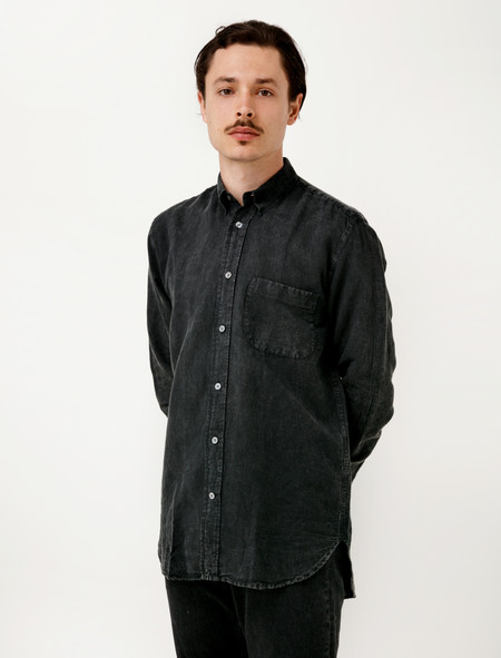 Our Legacy Generation Shirt Distressed Charcoal Linen