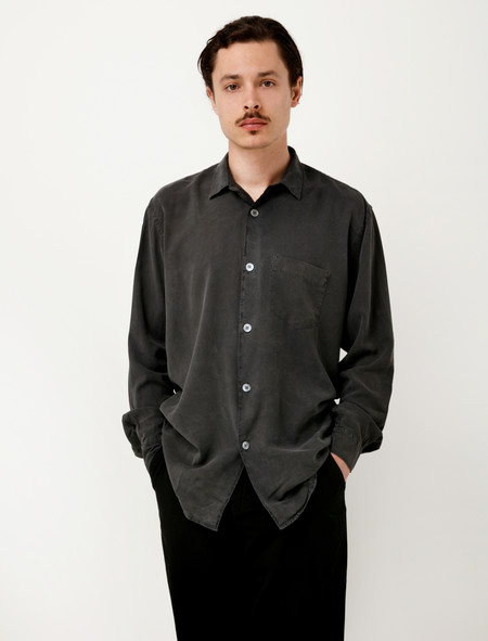 Our Legacy Initial Shirt Charcoal Fine Silk