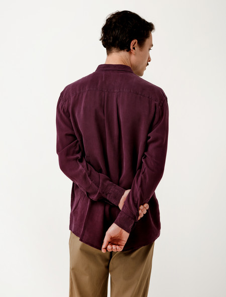 Our Legacy Initial Shirt Purple Fine Silk