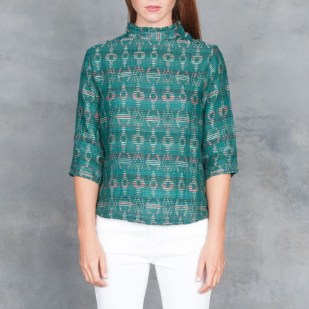 Ace & Jig Sylvia Turnaround Top Emerald