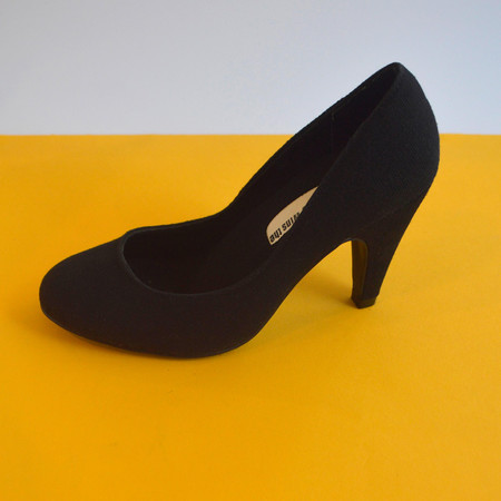 Slow and Steady Wins the Race Pump in Black - Size 35