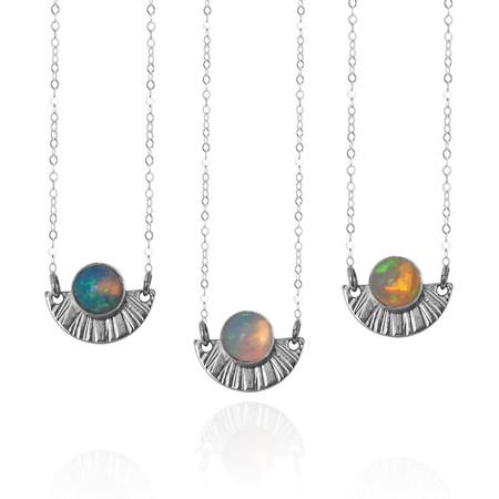 Strut Jewelry Opal Sunburst Necklace