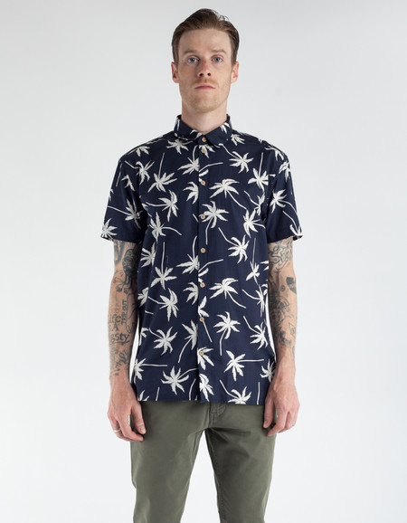 Minimum Los Short Sleeve Shirt Dark Navy