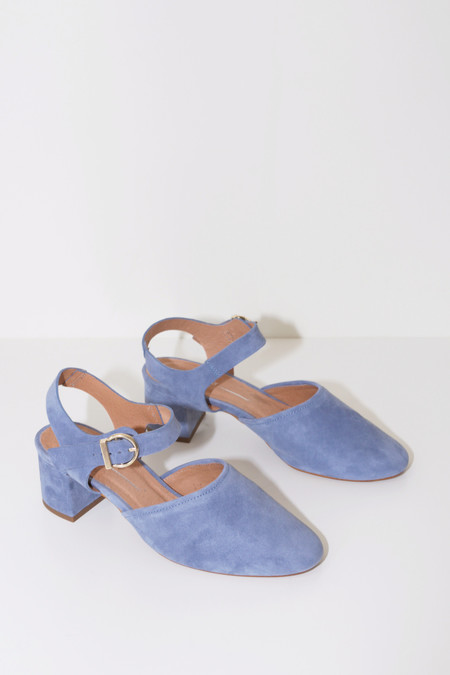 Intentionally Blank Crystal Suede Blue