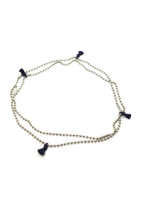 Nikolai Rose Stainless Steel Mantra IV Necklace - Navy