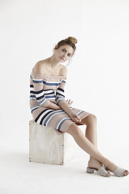 Callahan Stripe Off The Shoulder Dress