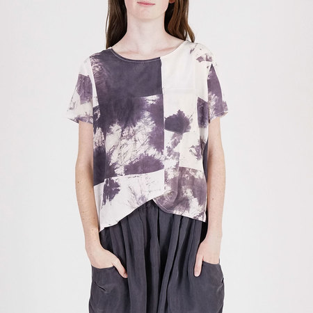 The Podolls Logwood Print Silk T-Shirt