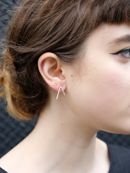 Another Feather Dart Earring In Silver