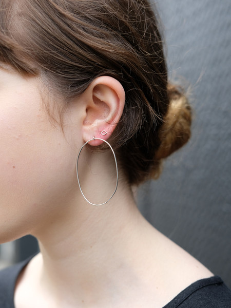 Better Late Than Never Large Oval Hoops In Silver