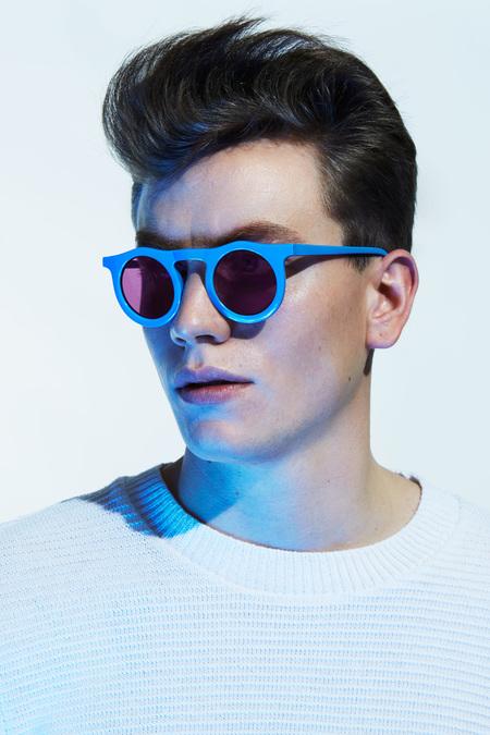 Unisex Carla Colour Ovablueku Sunglasses - Night Shade