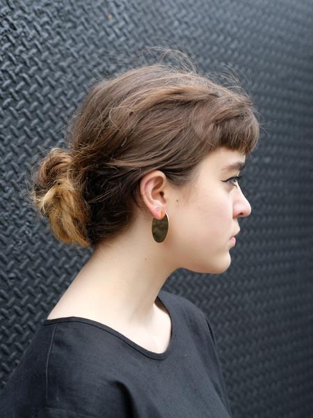Young Frankk OVAL EARRINGS