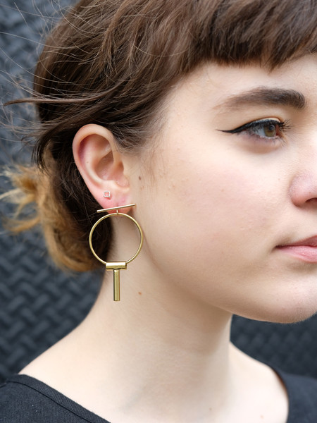 Another Feather Tasi Earrings In Brass