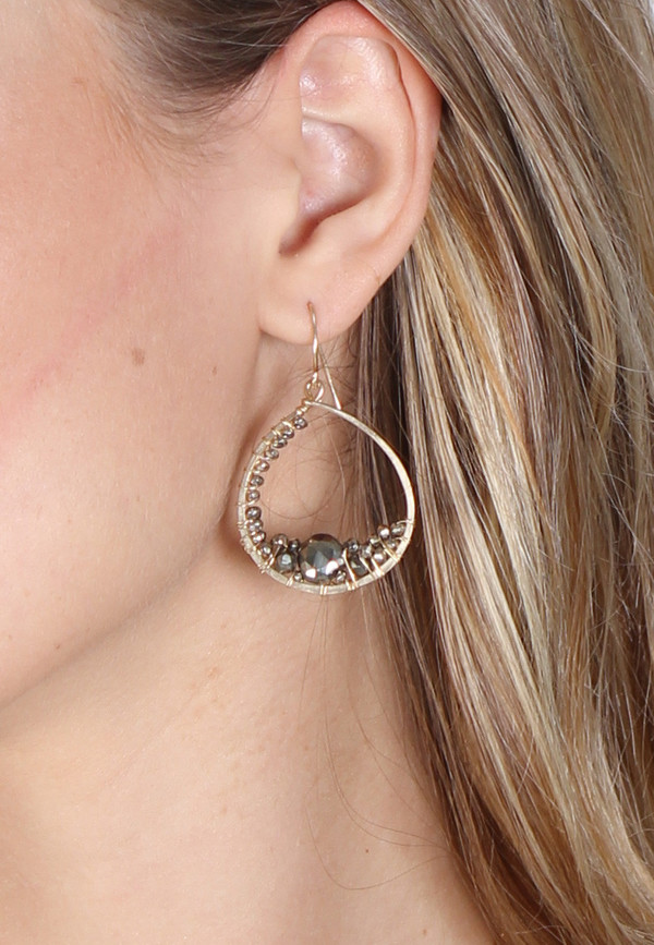 James and Jezebelle Pyrite Mirror Earring