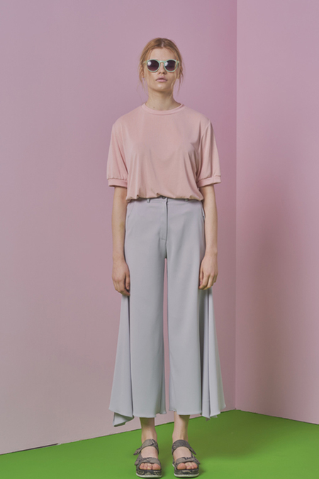 A.A wide flared kay pants