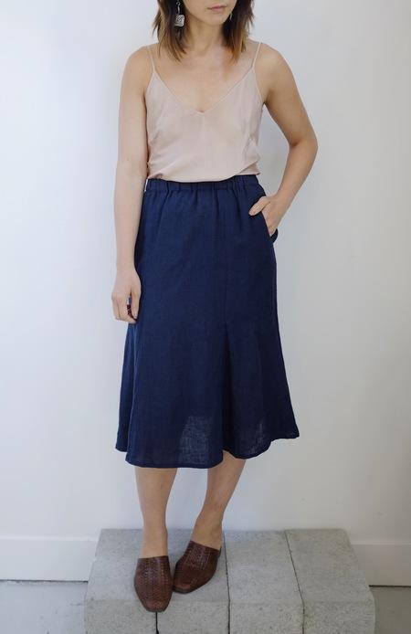 Hey Jude Vintage Linen A-Line Skirt