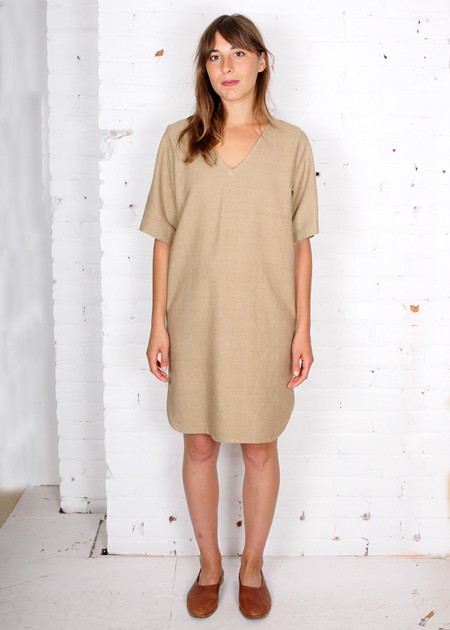 Gravel & Gold Valaurius Dress - Taupe