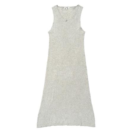 Ali Golden Ribbed Dress - Natural