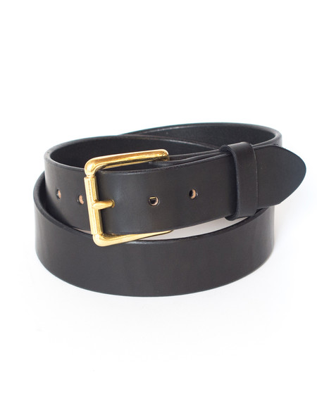 Wood&Faulk Black Martin Belt