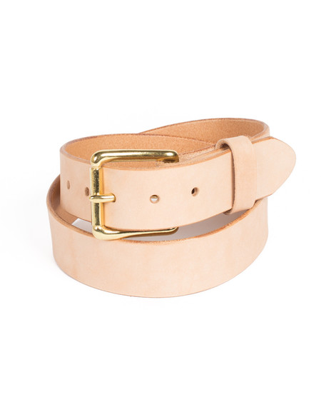 Wood&Faulk Natural Vegetable Tanned Martin Belt