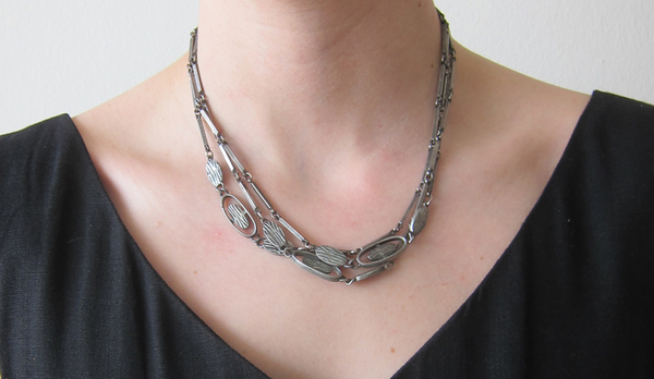 Vintage Long Chain Link Necklace